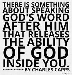 Speaking God's Word