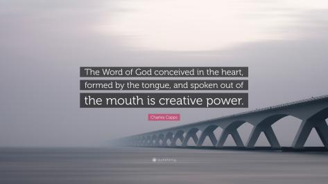 God's Word is Creative Power