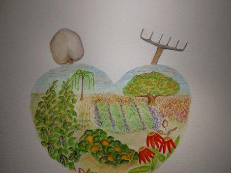 """Garden Spot of the Soul"" (in process) www.puttinghopetowork.com"
