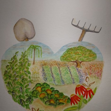"""Garden Spot of the Soul"" (in process) www.puttinghopetowork.com"